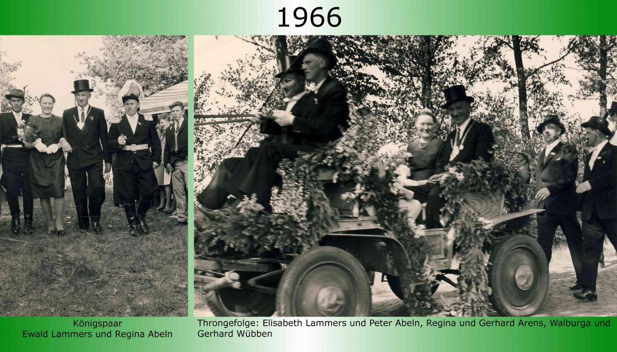 1966 Koenigspaar Thron Ewald Lammers