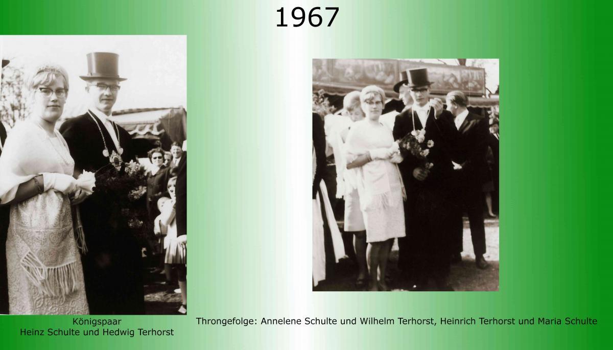 1967 Koenigspaar Thron Heinz Schulte
