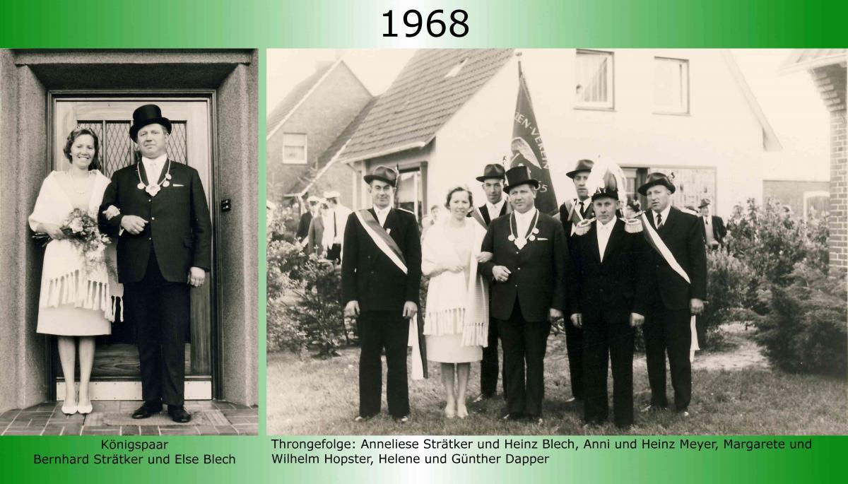 1968 Koenigspaar Thron Bernhard Straetker