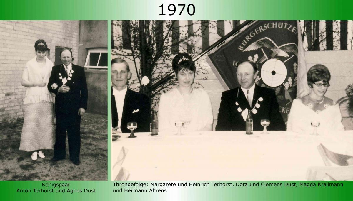 1970 Koenigspaar Thron Anton Terhorst