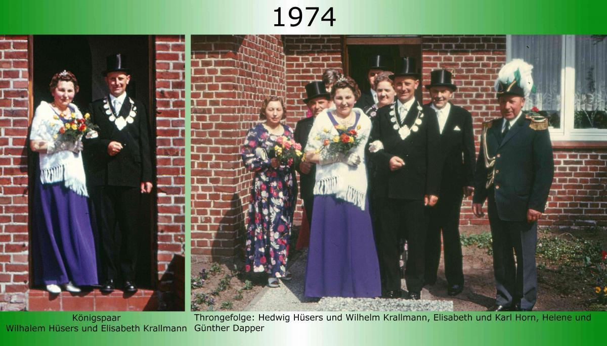 1974 Koenigspaar Thron Wilhelm Huesers