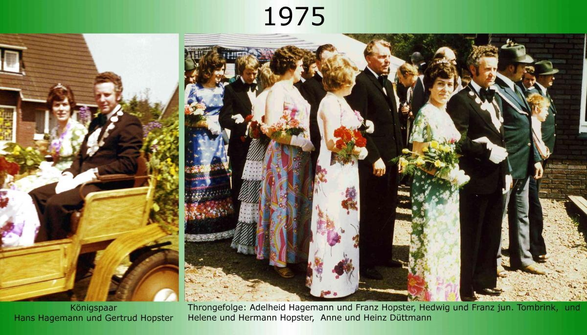 1975 Koenigspaar Thron Hans Hagemann