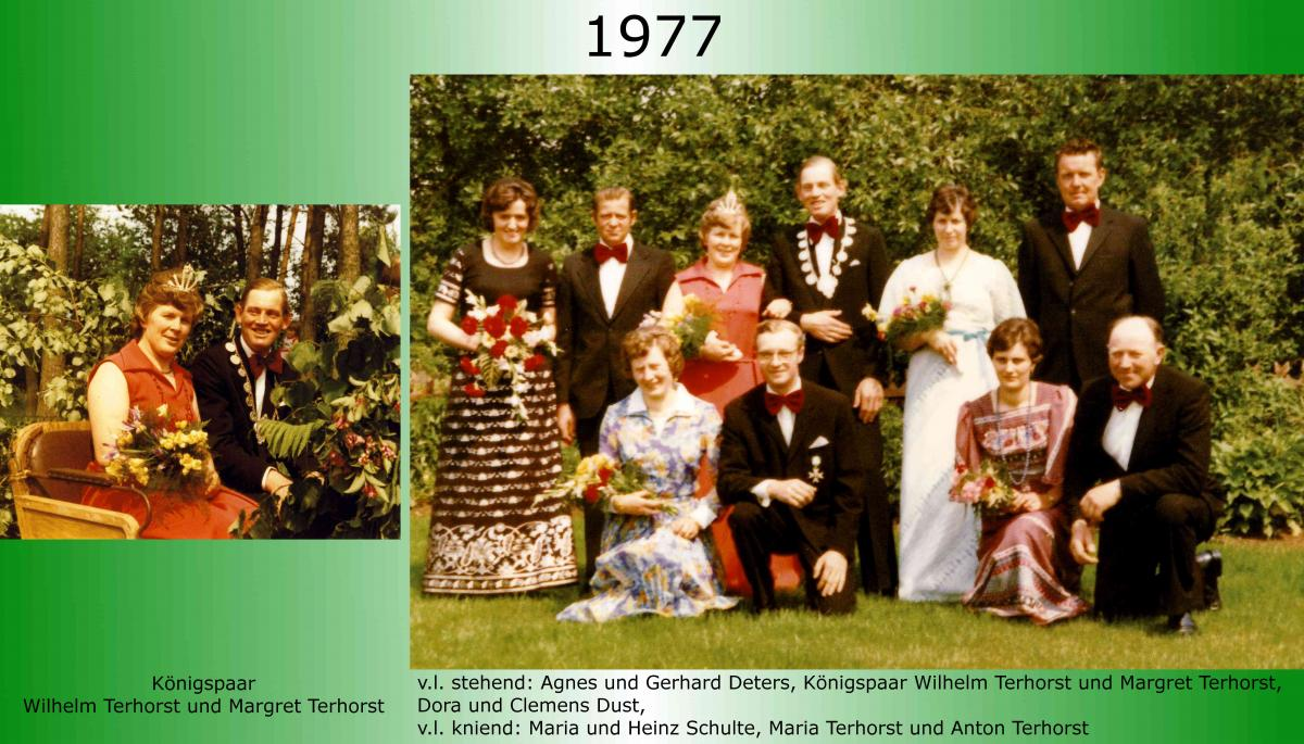 1977 Koenigspaar Thron Wilhelm Terhorst