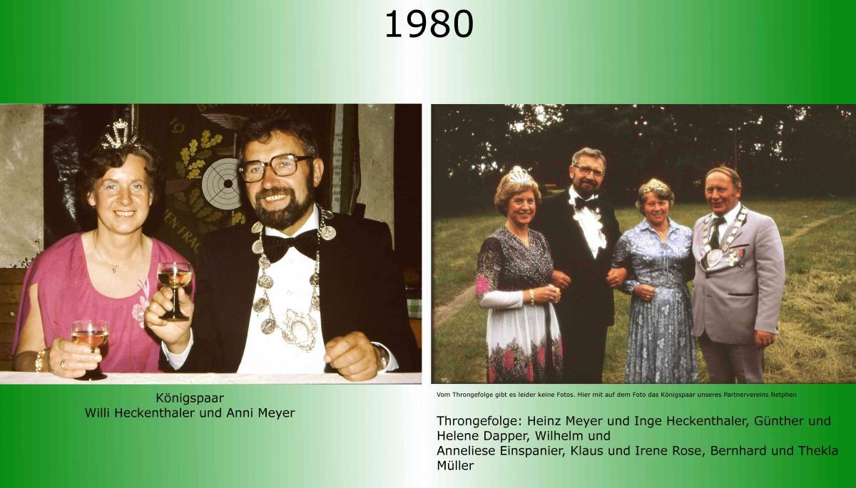 1980 Koenigspaar Thron Willi Heckenthaler