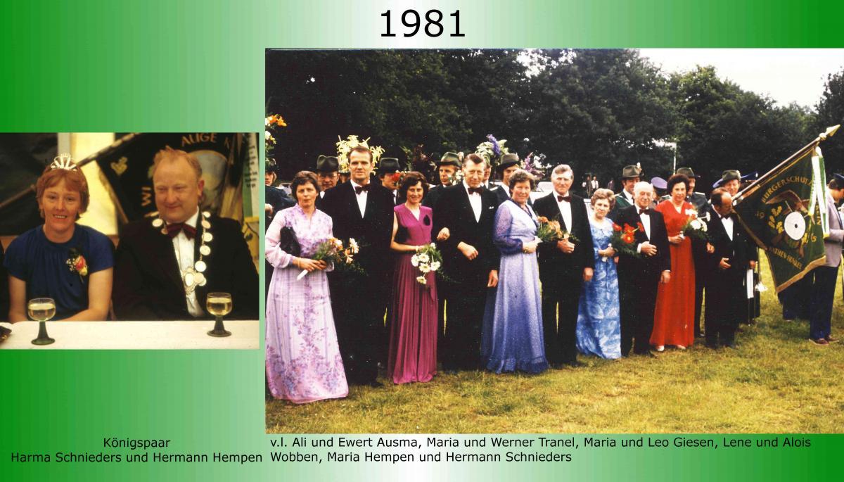 1981 Koenigspaar Thron Hermann Hempen