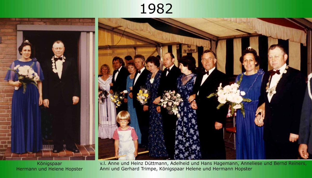 1982 Koenigspaar Thron Hermann Hopster