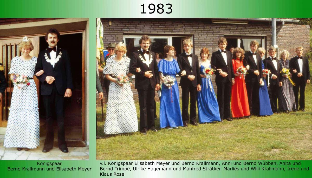1983 Koenigspaar Thron Bernd Krallmann