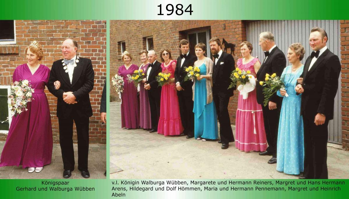 1984 Koenigspaar Thron Gerhard Wuebben