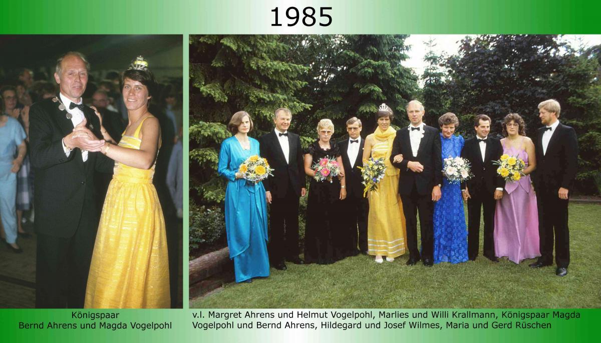 1985 Koenigspaar Thron Bernd Ahrens