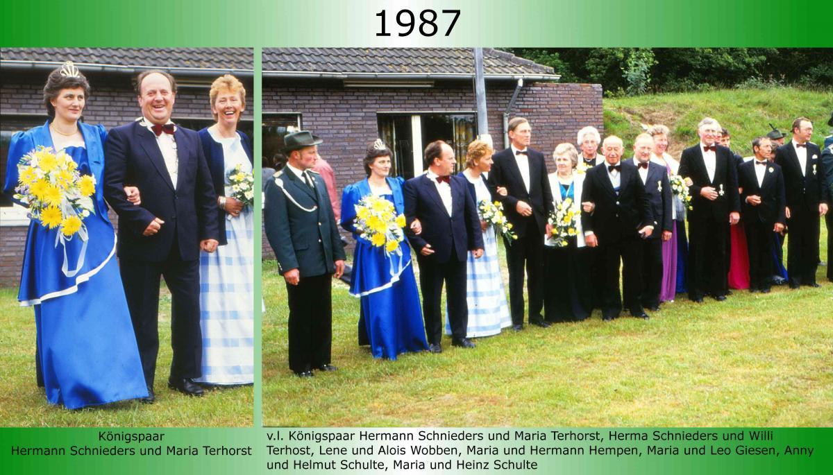 1987 Koenigspaar Thron Hermann Schnieders