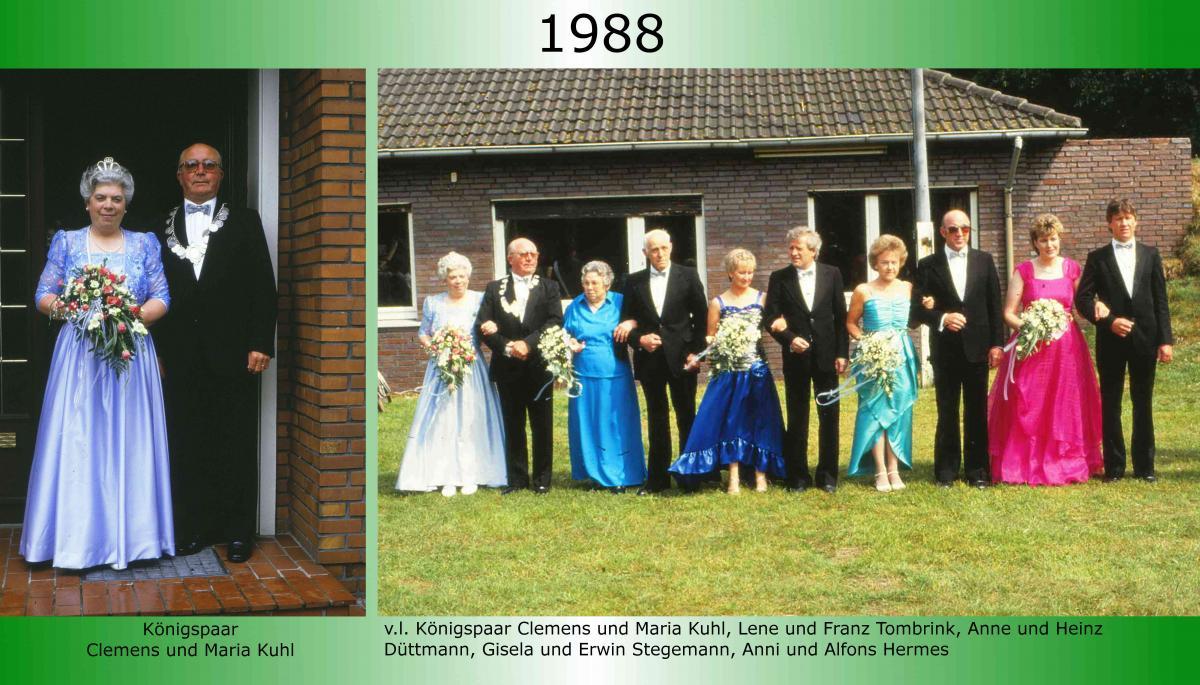 1988 Koenigspaar Thron Clemens Kuhl