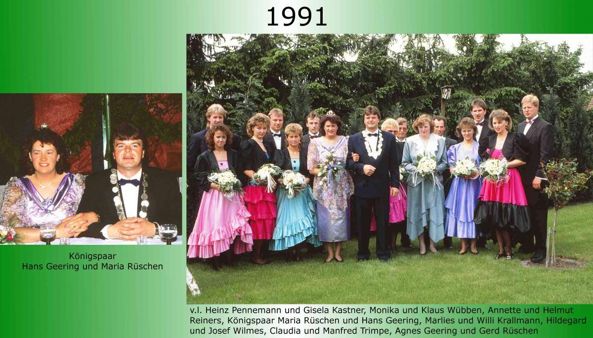 1991 Koenigspaar Thron Hans Geering