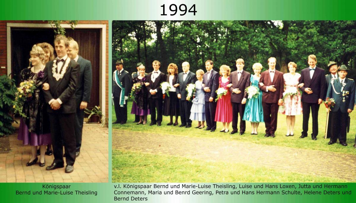 1994 Koenigspaar Thron Bernd Theisling