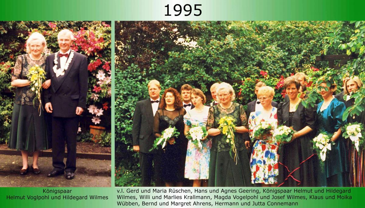 1995 Koenigspaar Thron Helmut Vogelpohl