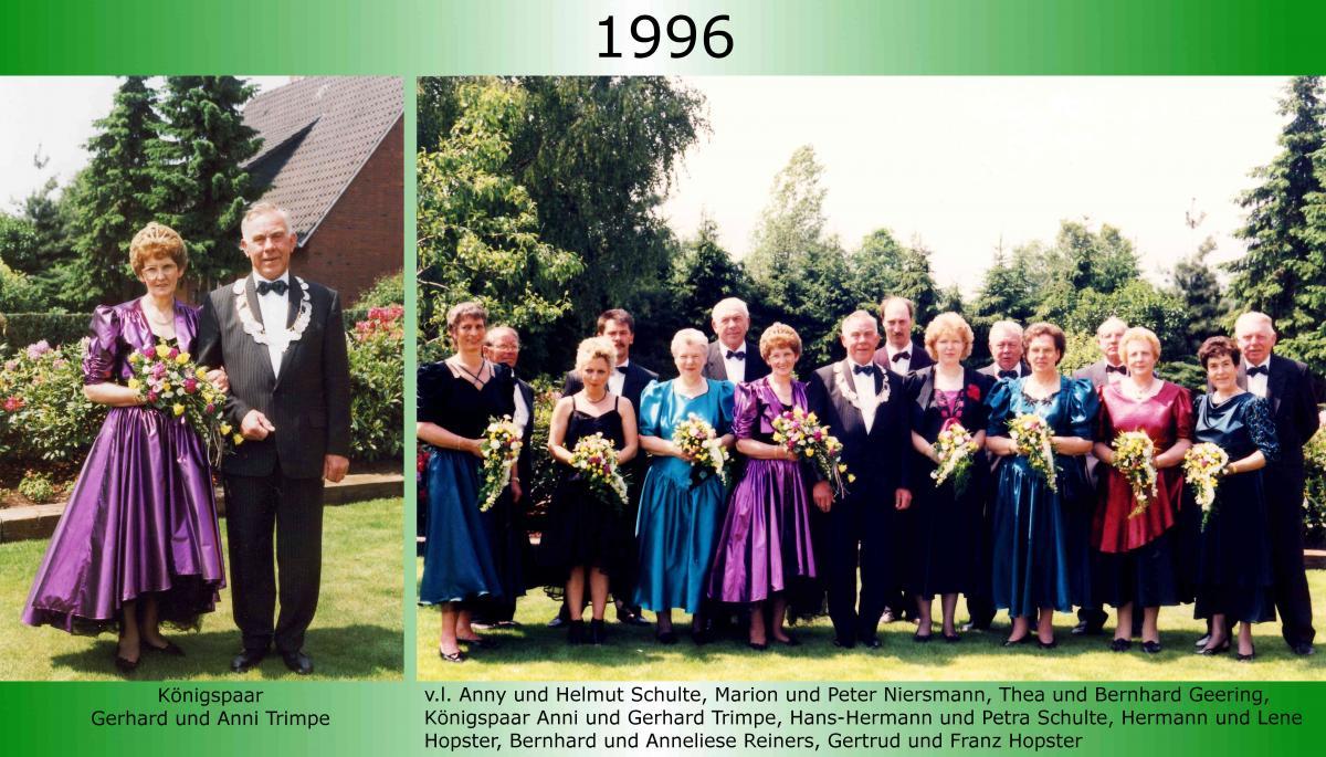 1996 Koenigspaar Thron Gerhard Trimpe