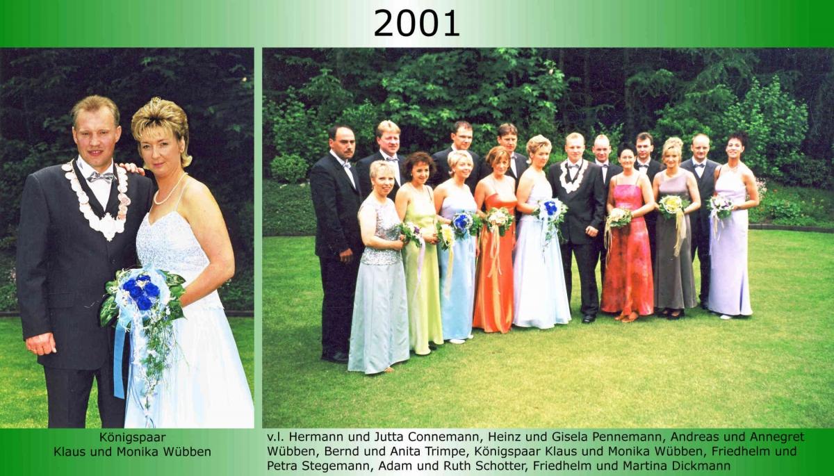 2001 Koenigspaar Thron Klaus Wuebben 1