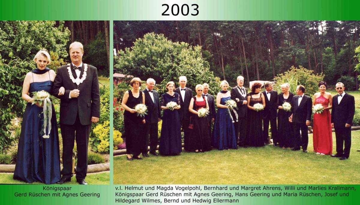 2003 Koenigspaar Thron Gerd Rueschen 1