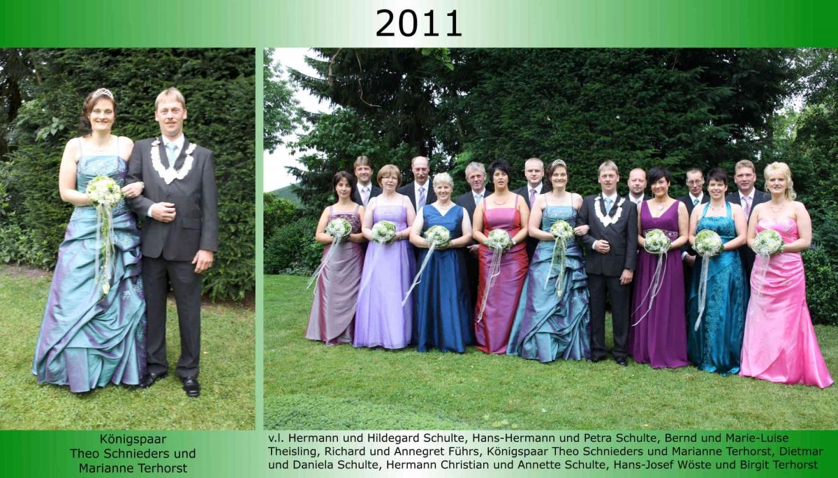 2011 Koenigspaar Thron Theo Schnieders 1