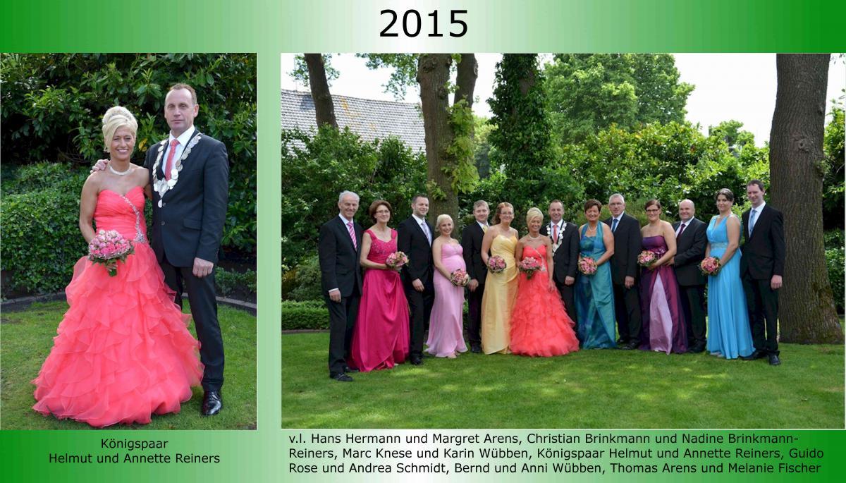 2015 Koenigspaar Thron Helmut Reiners