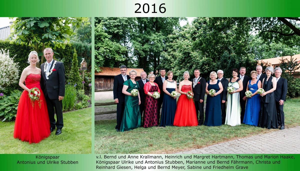 2016 Koenigspaar Thron Antonius Stubben