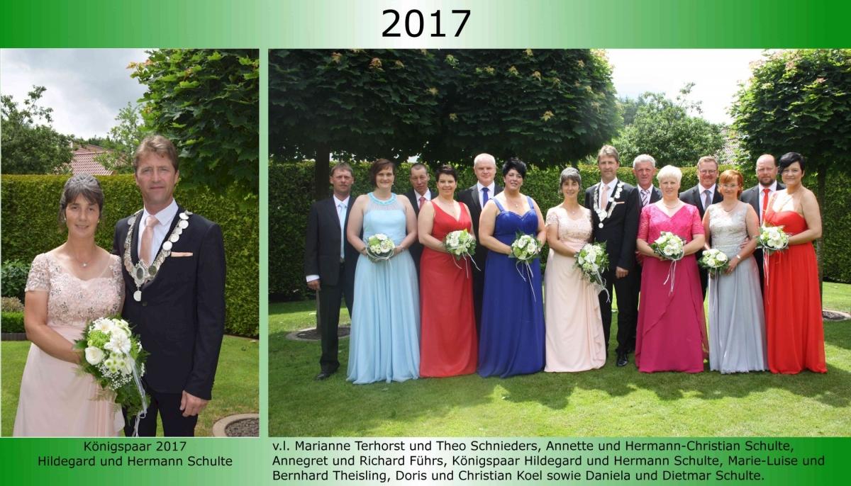 2017 Koenigspaar Thron Hermann Schulte